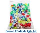 100PCS-5mm-LED-Green-Blue-White-Yellow-Red