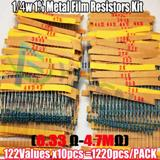 1220pcs 0.33R~4.7M 1% Metal Film Resistor Assorted Kit