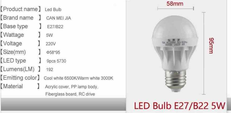 LED лампы 220V