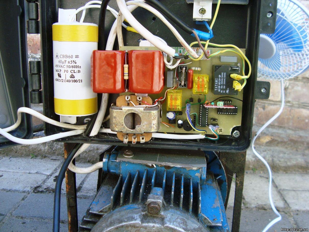 электронная схема управления асинхронным двигателем
