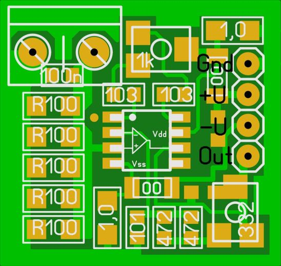 current amplifier LM358 lay